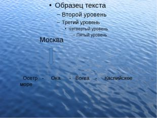 Москва Осетр - Ока - Волга - Каспийское море