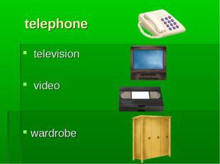 telephone television video wardrobe
