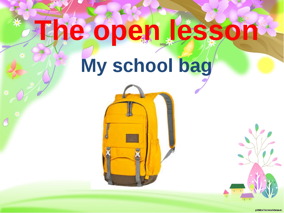 The open lesson My school bag