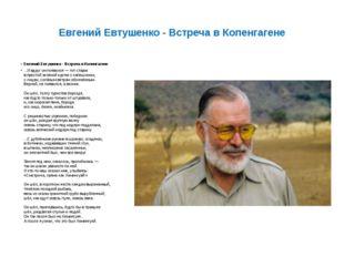 Евгений Евтушенко - Встреча в Копенгагене Евгений Евтушенко - Встреча в Копен