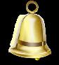 Иконка красивого, золотистого колокольчика