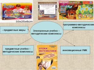 Электронные учебно – методические комплексы - предметные миры предметные учеб