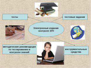 Электронные издания контроля ЗУН тесты методические рекомендации по тестирова