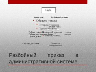 Разбойный приказ в административной системе
