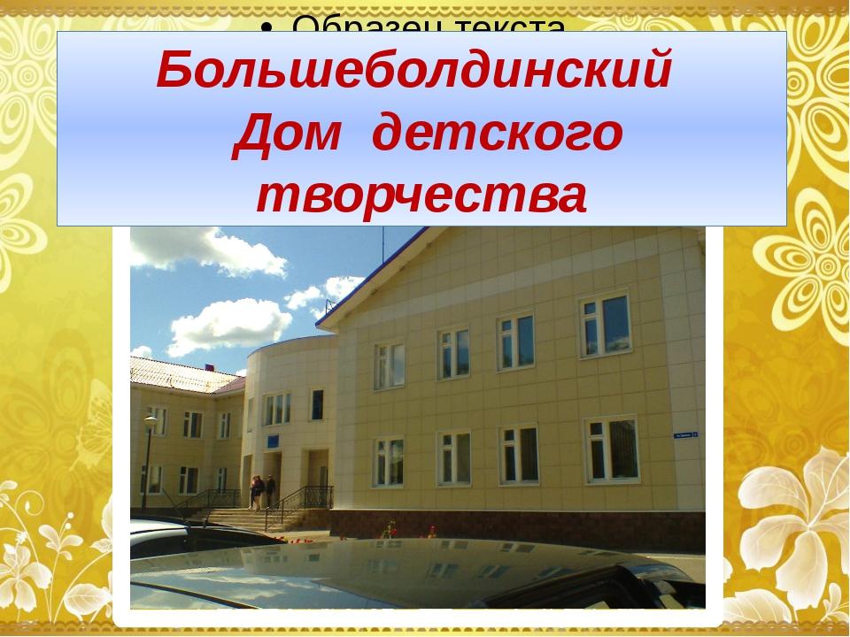 Большеболдинский Дом детского творчества