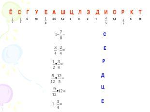 C E P Д Ц Е ЁСГУЕАШЦЛЗДИОРКТ 5104,51,290311,5616