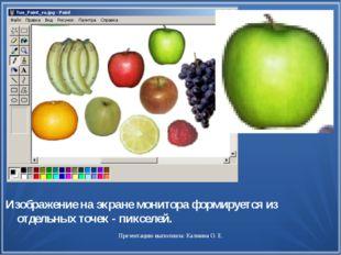 Изображение на экране монитора формируется из отдельных точек - пикселей. Пре