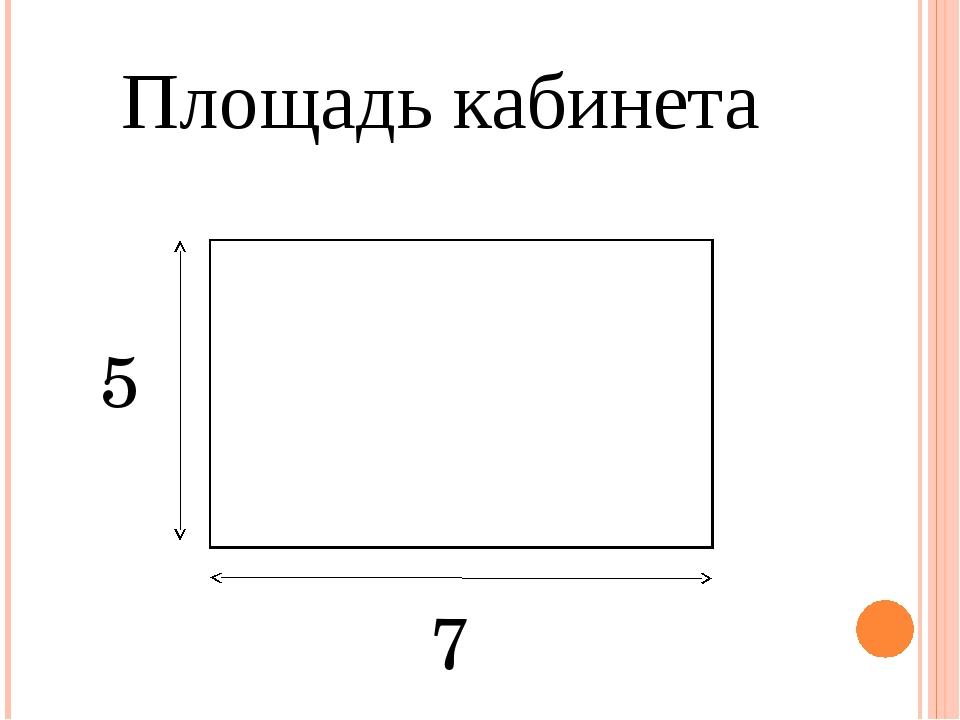 Площадь кабинета Текст надписи 7 5