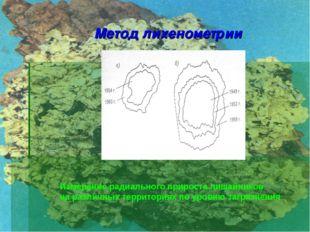 Метод лихенометрии Измерение радиального прироста лишайников на различных тер