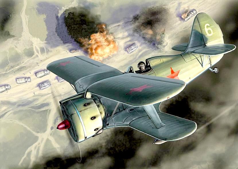 Атакуют И-153.