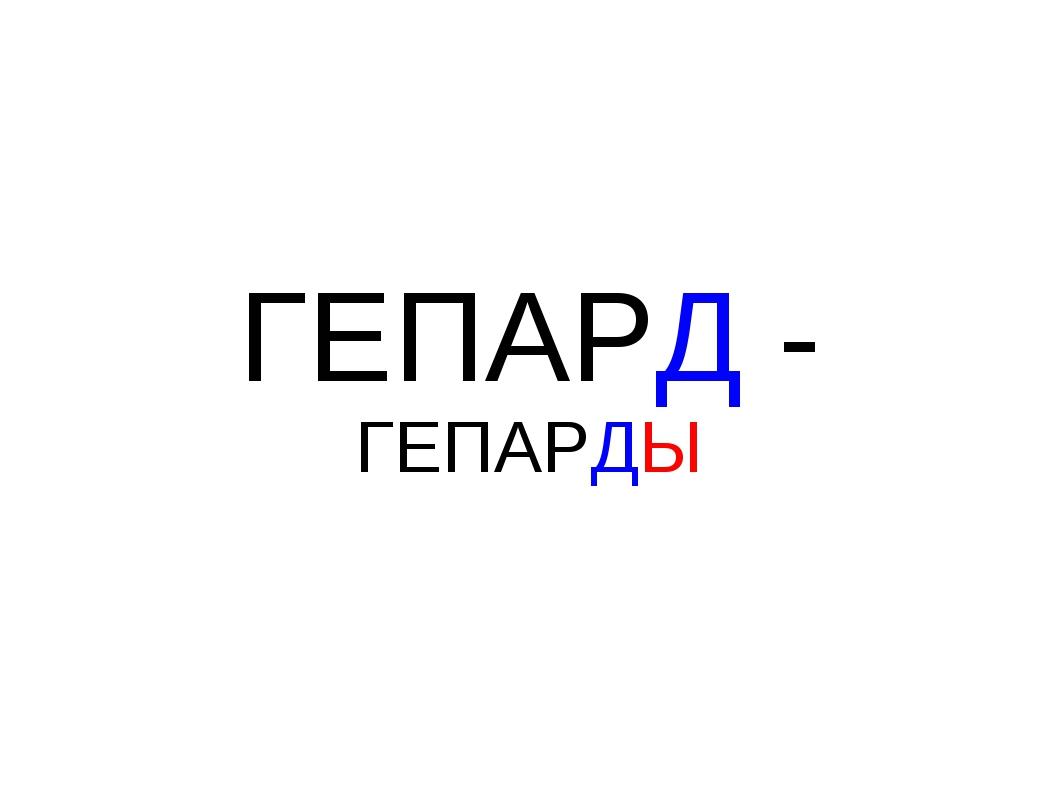 ГЕПАРД - ГЕПАРДЫ