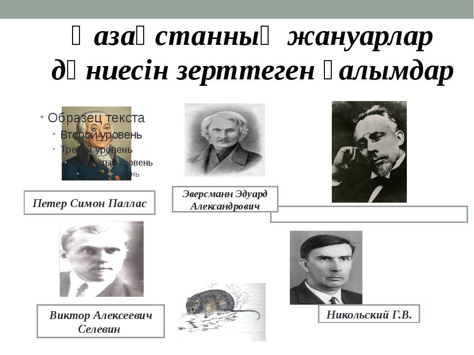 Петер Симон Паллас Виктор Алексеевич Селевин СЕ́ВЕРЦОВ Алексей Николаевич Ник...