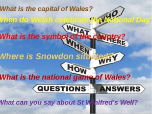 What is the capital of Wales? When do Welsh celebrate the National Day? What
