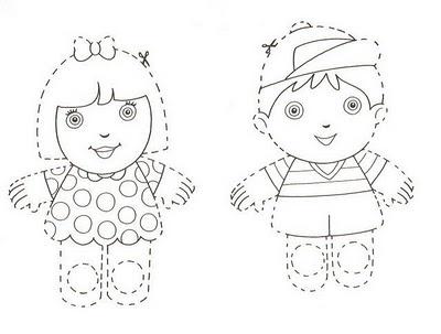 Titeres de papel recortables para niños: