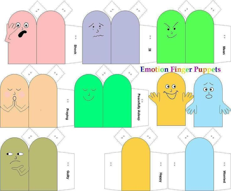 Emotions Finger Puppets: