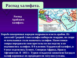 Борьба покоренных народов подрывала власть арабов. Из жителей Средней Азии ха