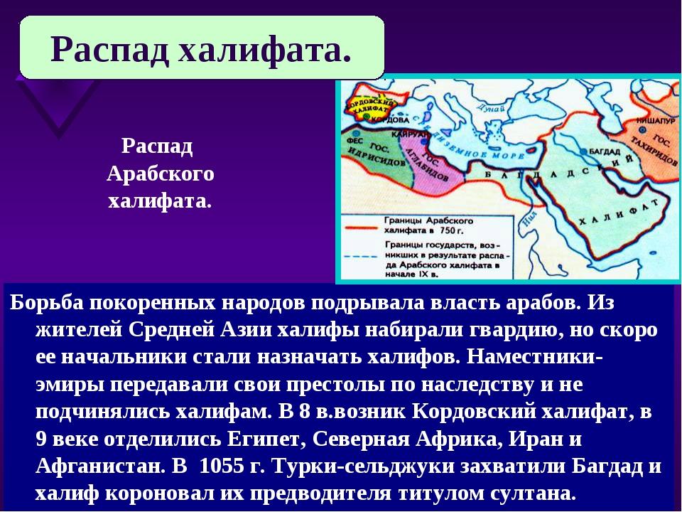 Борьба покоренных народов подрывала власть арабов. Из жителей Средней Азии ха...