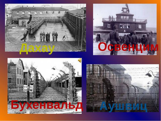 Дахау Освенцим Бухенвальд Аушвиц