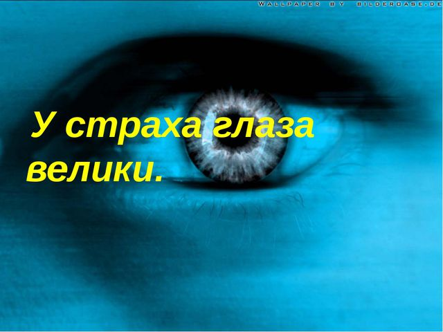 У страха глаза велики.
