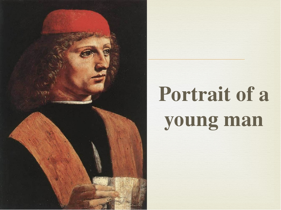 Portrait of a young man 