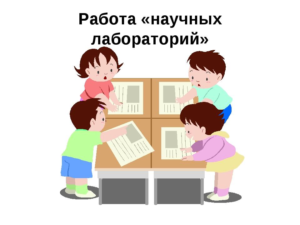 Работа «научных лабораторий»