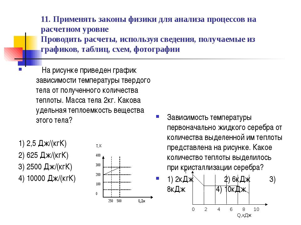 11. Применять законы физики для анализа процессов на расчетном уровне Проводи...