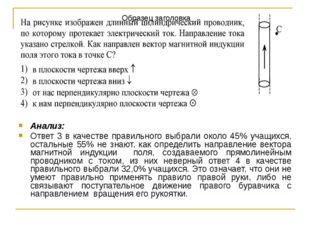 Анализ: Ответ 3 в качестве правильного выбрали около 45% учащихся, остальные