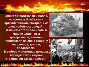 Фронт приближался к Навле, усилились бомбежки и артиллерийские обстрелы из д