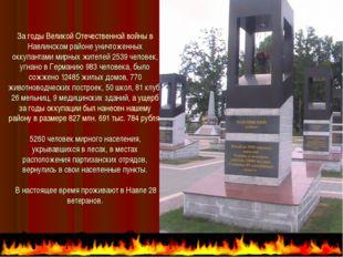 За годы Великой Отечественной войны в Навлинском районе уничтоженных оккупант