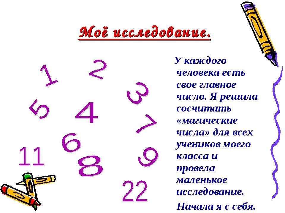 У каждого человека есть свое главное число. Я решила сосчитать «магические ч...
