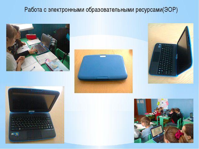 Работа с электронными образовательными ресурсами(ЭОР)