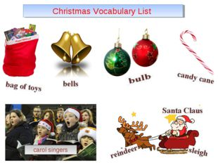 Christmas Vocabulary List carol singers