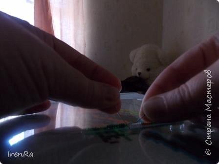 Поделка изделие МК по работе с бисером на стекле Бисер фото 7