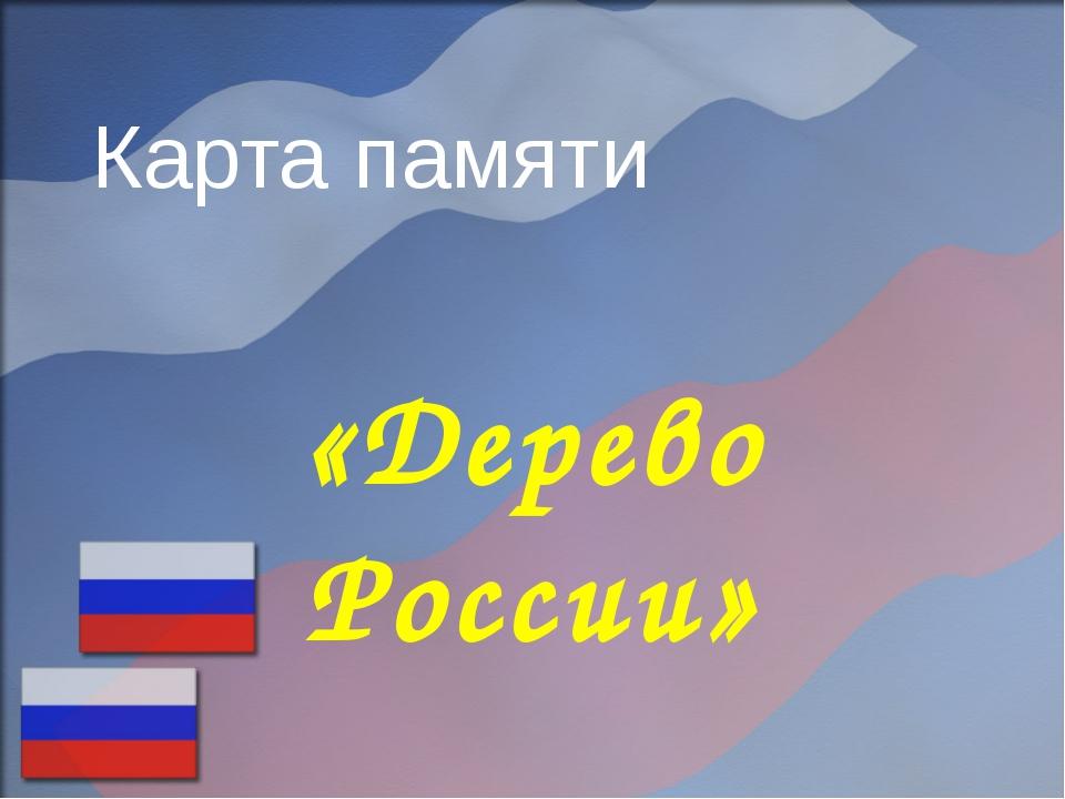 Карта памяти «Дерево России»