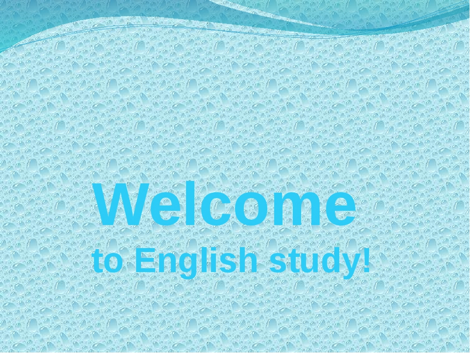 Welcome to English study!