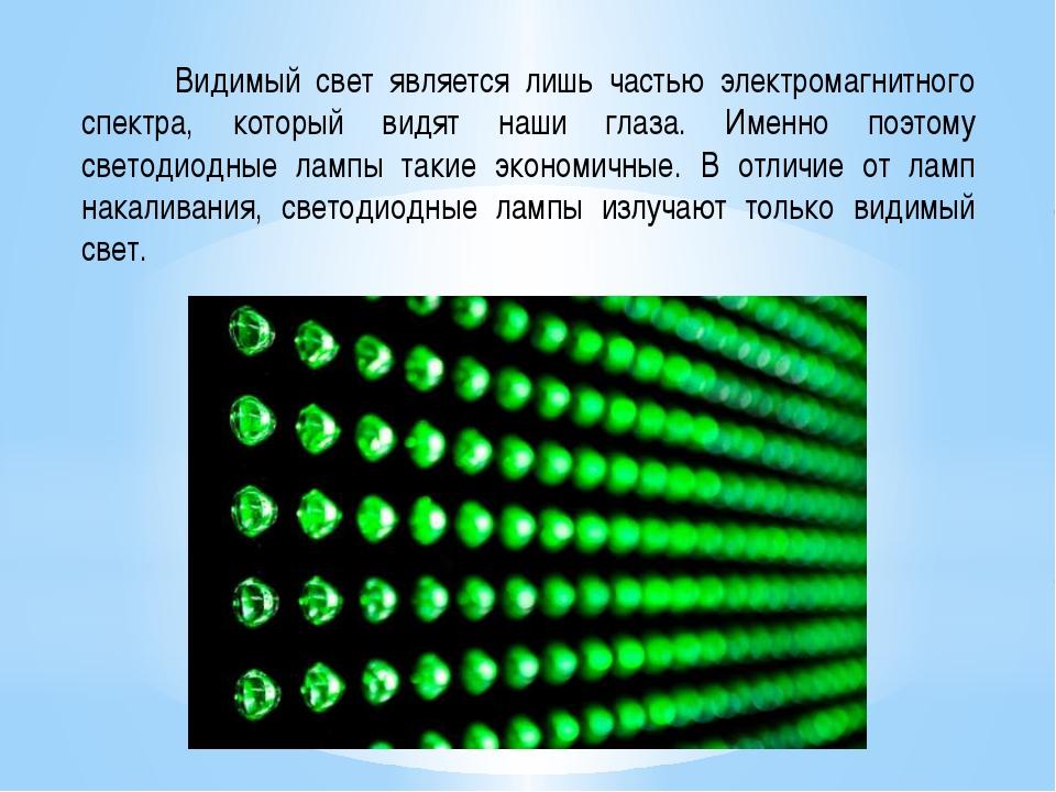 Видимый свет является лишь частью электромагнитного спектра, который видят н...