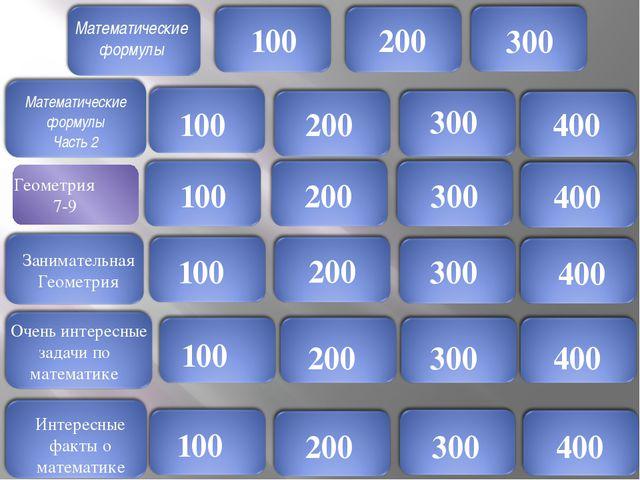 Математические формулы 100 Задание : Запишите формулу корней квадратного урав...