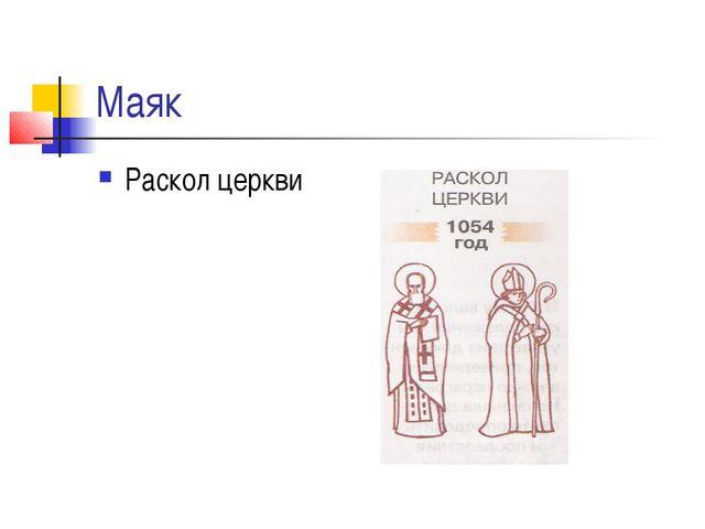 Маяк Раскол церкви