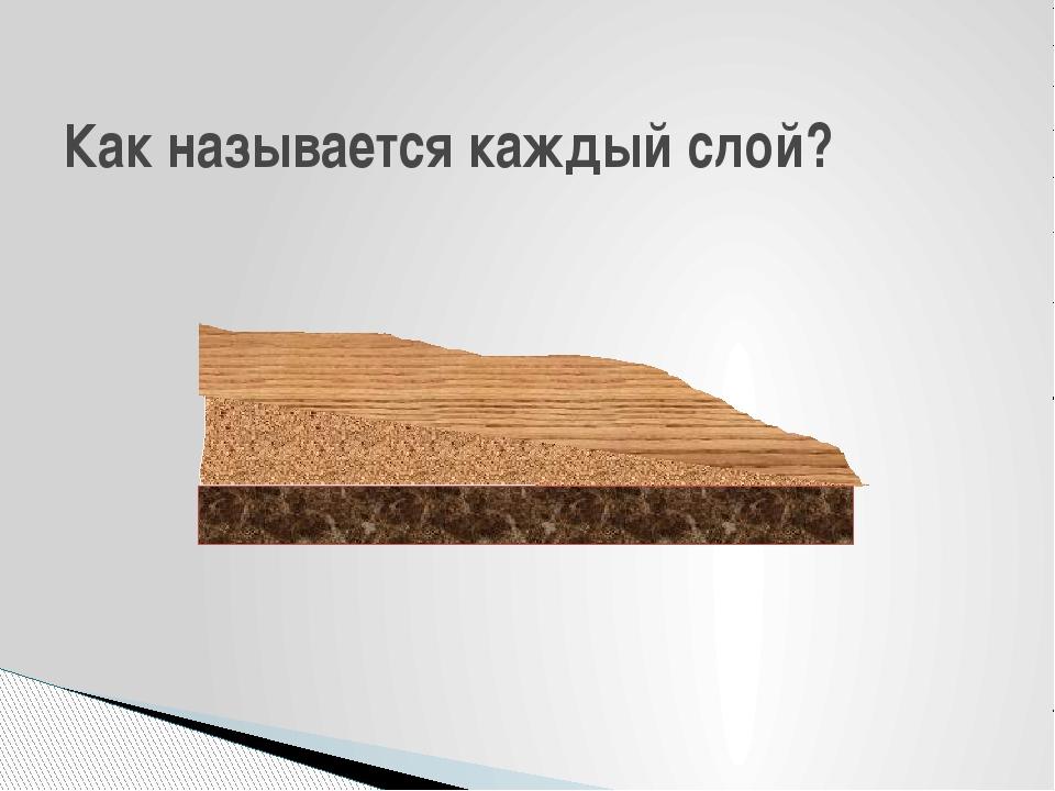 Как называется каждый слой?