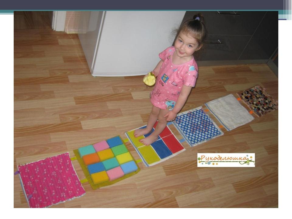 Детский массажный коврик для ног своими руками