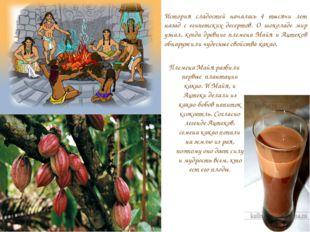История сладостей началась 4 тысячи лет назад с египетских десертов. О шокола