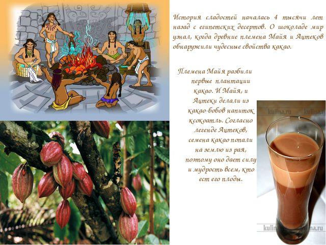 История сладостей началась 4 тысячи лет назад с египетских десертов. О шокола...