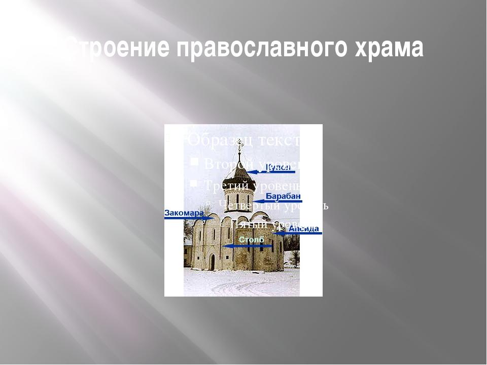 Строение православного храма