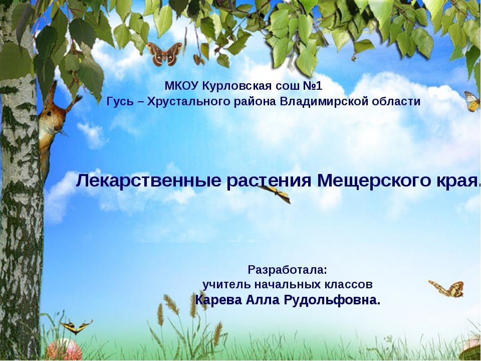 Разработала: Карева Алла Рудольфовна учитель начальных классов высшей квалиф...