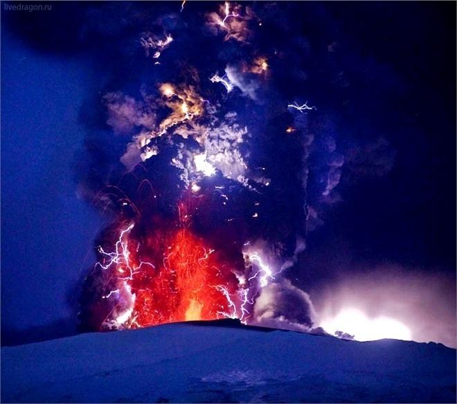 Извержение супервулкана. Как это может быть. Фото