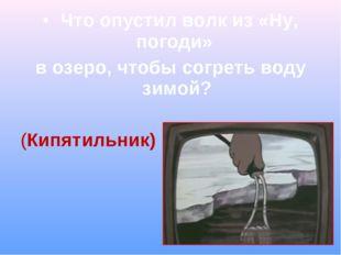 Что опустил волк из «Ну, погоди» в озеро, чтобы согреть воду зимой? (Кипятил
