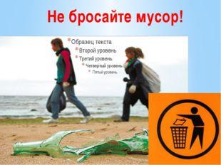 Не бросайте мусор!
