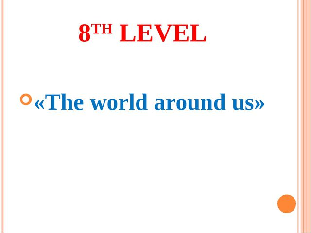 8TH LEVEL «The world around us»