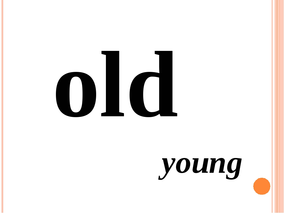 old young