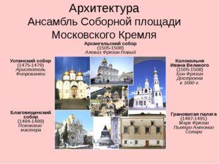 Архитектура Ансамбль Соборной площади Московского Кремля Успенский собор (147
